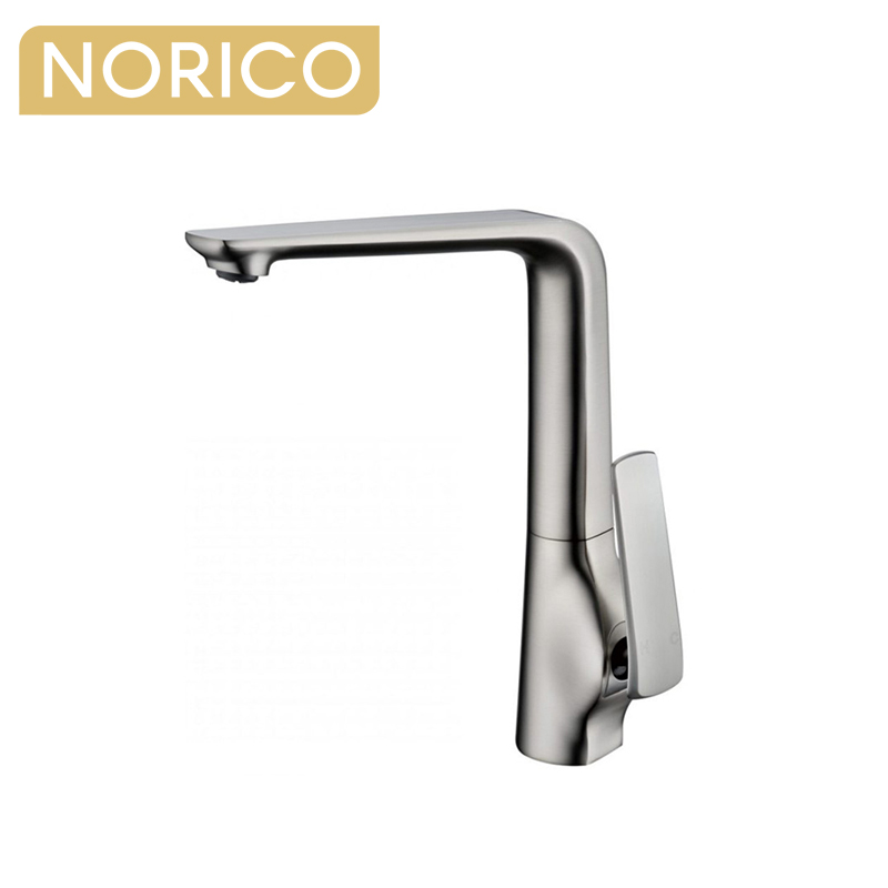 Brushed Nickel Kitchen Sink Mixer Tap Swivel Spout KT33.05