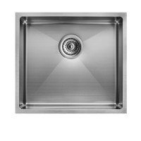 440x440x205mm 1.2mm Round Corner Stainless Steel Handmade Single Bowl Top/Flush/Undermount Kitchen/Laundry Sink