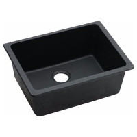 635x469x241mm Black Granite Quartz Stone Under Mount Kitchen Sink Single Bowl