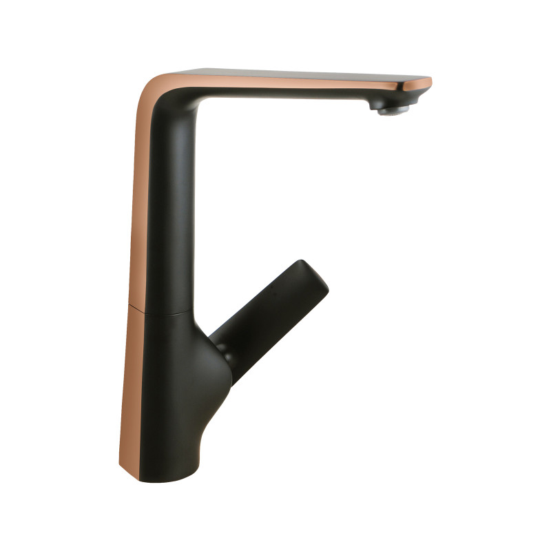 Esperia Matt Black & Rose Gold Kitchen Sink Mixer Tap Solid Brass Kitchen Tap KT33.09