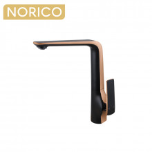 Norico Esperia Matt Black & Rose Gold Kitchen Sink Mixer Tap Solid Brass Kitchen Tap
