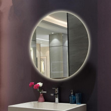 900mm Round Plain LED Mirror 3 Color Lighting Touch Sensor Switch Defogger Pad Wall Mounted Acrylic Mirror Back Lighting