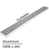 300-3900mm Lauxes Shower Grate Drain Aluminium Next Generation 35 Any Size Indoor Outdoor
