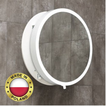 700mm MOON LED Mirror Round Bathroom WHITE Base and Mechanism Frame Pull out Wall Mounted