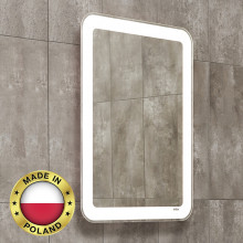 600x800mm LED Mirror Bathroom White Mechanism and frame Pull out Wall Mounted Vertical or Horizontal