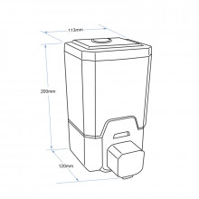 1L ABS Foam Soap Dispenser Wall Mounted Hand-Pressed