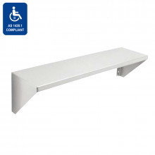 Bathroom Satin Stainless Steel Shower Shelf Special Care Disabled Surface Mounted