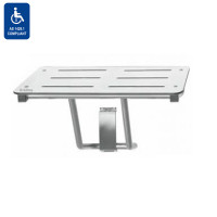 Folding Plastic White Laminate Disabled Shower Seat Stainless Steel Tubing Self Locking