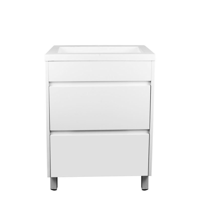 600mm Bathroom Vanity Freestanding Matt White