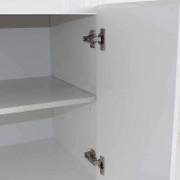 600x460x730mm Bathroom MDF Vanity Freestanding White Cabinet with Ceramic Top