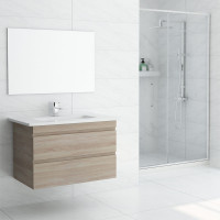 750mm Wall Hung Bathroom Vanity Double Drawers Cabinet Only