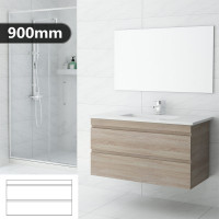 900mm Wall Hung Bathroom Vanity 2 Drawers Cabinet Only