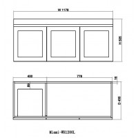1178x450x505mm Miami Wall Hung Bathroom Floating Vanity MATT WHITE Shaker Hampton Style LEFT Drawer Cabinet ONLY&Ceramic/Poly Top Available