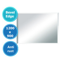 1200x900mm Plain Bathroom Mirror Bevel Edge Wall Mounted Vertical or Horizontal