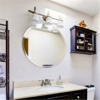 700x700x5mm Round Plain Bathroom Mirror Bevel Edge Wall Mounted