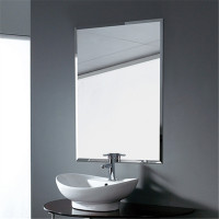 450x600mm Plain Bathroom Mirror Bevel Edge Wall Mounted Vertical or Horizontal