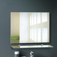 MACHO 1200x900mm Plain Bathroom Mirror Pencil Edge Wall Mounted Vertical or Horizontal
