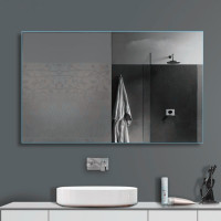 MACHO 1500x900mm Plain Bathroom Mirror Pencil Edge Wall Mounted Vertical or Horizontal