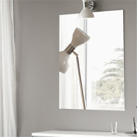 450x600mm Plain Bathroom Mirror Pencil Edge Wall Mounted Vertical or Horizontal