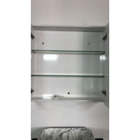 750Lx720Hx150Dmm MDF Pencil Edge White Shaving Cabinet With Mirror Double Doors