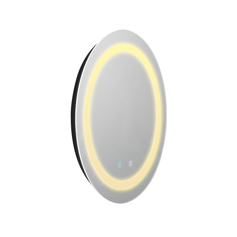 600/800mm Round Bathroom LED Mirror Touch Sensor Switch Wall Mounted MR-LED Round