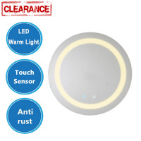 MACHO 600/800mm Round Bathroom LED Mirror Touch Sensor Switch Wall Mounted