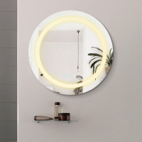 MACHO 800x800x40mm Round Bathroom LED Mirror Touch Sensor Switch Wall Mounted