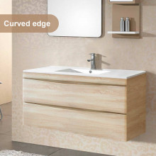 1200mm Wall Hung Bathroom Floating Vanity Curved Edge Drawers Cabinet Only