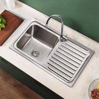 Eden 765x365x180mm Stainless Steel Kitchen Sink Left Right Single Bowl Available