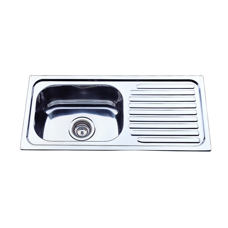 Single Bowl with Drainer Board Kitchen Sink NH327S