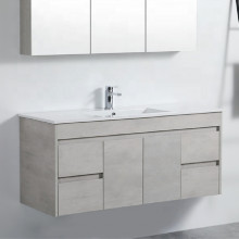 1200mm Wall Hung PVC Vanity in Concrete Grey Finish Single Bowl Cabinet ONLY for Bathroom