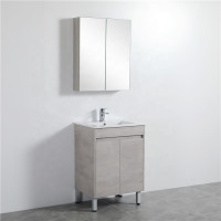 600mm Freestanding Vanity Concrete Grey Finish Poly Wood Cabinet ONLY for Bathroom