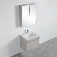 610x455x525mm Wall Hung PVC Vanity Concrete Grey Finish Cabinet ONLY for Bathroom