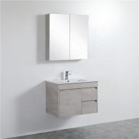 750mm Wall Hung PVC Vanity in Concrete Grey Finish Left / Right Drawers Cabinet ONLY for Bathroom