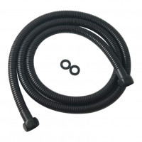 1500mm Black Stainless Steel Water Inlet/Outlet Shower Hose