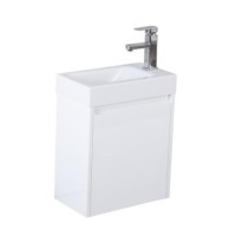 Wall Hung Vanity with Poly Top Left Hand Hinge PD-P42LWH-PT