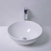MACHO 280x280x120mm Round Gloss White Ceramic Above Counter Basin