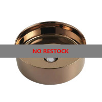 355x355x115mm Round Rose Gold Ceramic Above Counter Basin