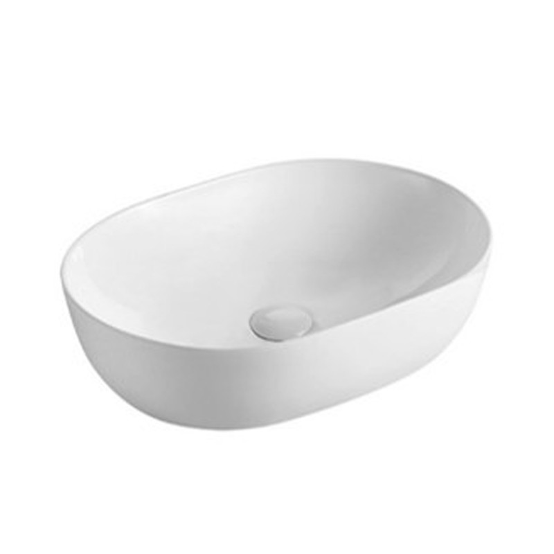 490x355x130mm Oval Gloss White Above Counter Basin
