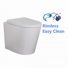 570x360x415mm Avis Wall Faced Toilet Pan with Rimless Pan for bathroom