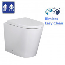 620x360x445mm Avis Wall Faced Toilet Floor Pan with Rimless Pan and Extra Height for Special Care and bathroom
