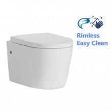 520x360x325mm Avis Wall Hung Toilet Pan with Rimless Flush for bathroom