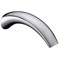 Yale Brass Chrome Waterfall Bath/Basin Wall Spout Water Spout Round Crescent
