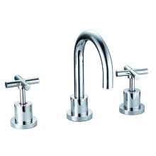 Chrome Solid Brass Tap Set with 360 Swivel for basin