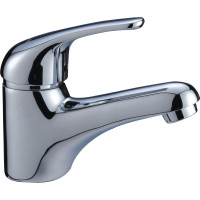 Ruby Solid Brass Chrome Short Basin Mixer Vanity Tap