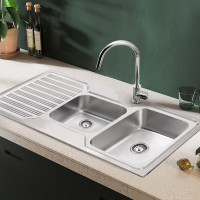 Eden 1080x480x170mm 1&3/4 Stainless Steel Kitchen Sink Single Drainer Left Right Available