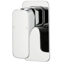 Eden Chrome Soft Square Solid Brass Wall Mounted Mixer for Shower and Bath