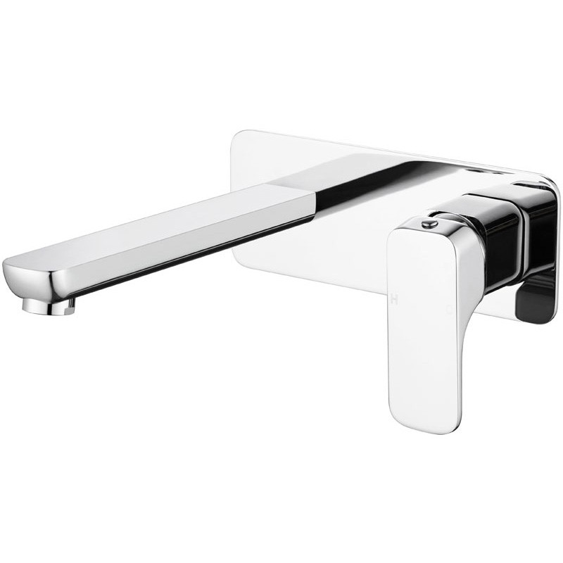 Eden Soft Square Chrome Wall Mounted Mixer with Spout PSL3003