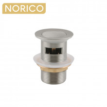 Norico 32/40mm Brushed Nickel Solid Brass Basin Pop Up Waste with Overflow