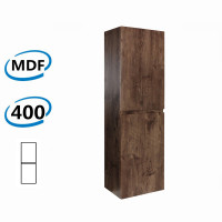 400x300x1350mm Wall Hung Bathroom Vanity Tall Boy DARK Oak Wood Grain PVC Vacuum Filmed MDF Board